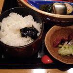 四季さかな - ご飯、漬物(四季膳)