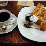 待夢・珈琲 - 料理写真:アーモンドトーストセット(800円)