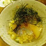 こめらく - 『鯛と鯵の漁師御飯』 1,380円