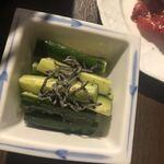 焼肉牛炎 - 美味しくておかわり! 双子姉の大好物♡旨塩胡瓜@350円税抜