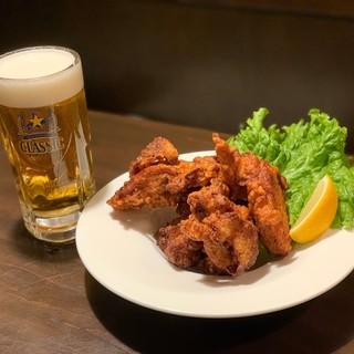 ビール(サッポロクラシック・ラガーあります)×北海道からあげ