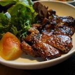 121226941 - 白金豚麦味噌焼(¥1500)定食となります