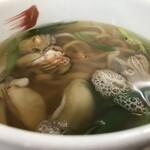 豊福 - 牡蠣6粒、出汁がまた美味い!(2019.12.7)