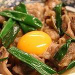 かめや - 特選松阪牛 特上牛丼のいアップ。シズル感がありますね~