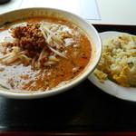 興安楼 - 坦々麺+半チャーハン