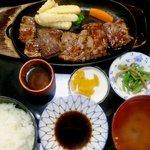 12123946 - ステーキ定食 1,100円
