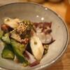 鳥せん - 料理写真:酒(麦焼酎ロック)のアテにはタコのやつ!
