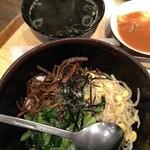 桔梗トラジ - ビビンバ(350円でスープ付)