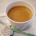 DainingRocco - Aセットのドリンク。ホットコーヒー