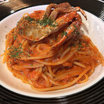 121246041 - Granchio Spaghetti alla salsa di pomodoro congranchio