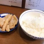 121247773 - 鷄皮+白飯のBセット ¥170