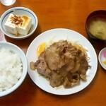 花月食堂 - 花月食堂@柏崎 焼肉定食・肉盛(900円)