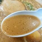 ラーメンだるまや - ラーメンだるまや@網走店 ドロラーメン スープ