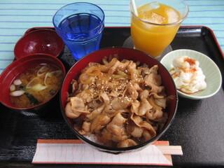 カフェ レラ - 豚丼定食 1000円 (2019.11)