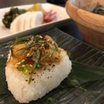 KATSUO  - 焼きおにぎりは新鮮な生うにと自家製うに味噌が乗っていて最高!