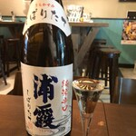 KATSUO  - 本醸造しぼりたて 浦霞(宮城県・浦霞醸造元)