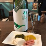 KATSUO  - 庭のうぐいす 特別純米 しぼりたて生(福岡県・山口酒造場)