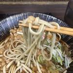 嵯峨谷 - 朝セット玉飯390円、たぬき蕎麦