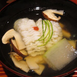Takezaki - 鱧の落としとマツタケのお椀