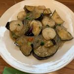 レーロイ - エビとナスと春雨の炒め物