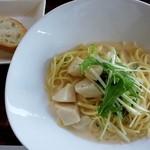 ヴァン ド キッチン - 料理写真:ホタテと水菜のクリ-ムソ-スパスタ