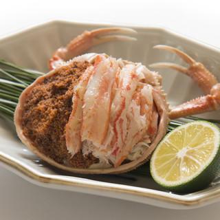 冬季の名物料理まんじゅう蟹