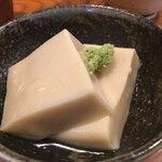 蕎麦切り よしむら - セットの胡麻豆腐