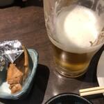 たくみ - 生ビールとお通し