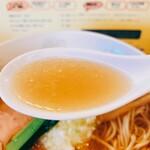 ラー麺専門店 こしがや - 塩味ネギラーメン  スープリフト