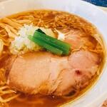 ラー麺専門店 こしがや - 塩味ネギラーメン  チャーシュー  アップ