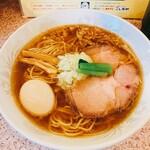 ラー麺専門店 こしがや - 塩味ネギラーメン[780円]+煮玉子トッピング[100円]