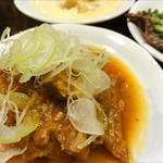 煮込み ナカミヤ - 豚ハラミ<キムチ>370円