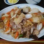 中華飯店 ごくう - 八宝菜定食ご飯大盛り