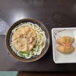 マルタニ製麺 - かけうどん大・ゲソ天・イナリ寿司