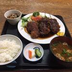 米常 - 料理写真:味噌串カツ定食