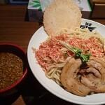 麺者 風天 - えびつけ麺(大盛)