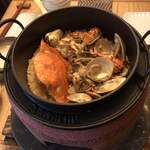 NOBU - 渡り蟹とアサリの釜炊きを頂きました