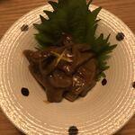 NOBU - イカの塩辛、柚の香りがグッドです