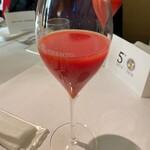 リストランテ エスト - ブラッドオレンジで乾杯