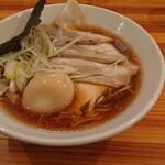 田中製麺 - チャーシュー麺味玉トッピング