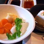 ふぐ乃小川 - ■白子豆腐 ■炊き合せ・・・白子豆腐はなめらかで美味しいですよ。