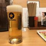 産直仕入れの北海道定食屋 北海堂 - まずは一杯目