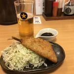 産直仕入れの北海道定食屋 北海堂 - 本日の道産魚フライ アジフライ