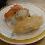 かっぱ寿司 - 貝の3種盛り