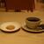 カフェアンドセミナー ハイウェーブ - ドリンク写真:サービスのクッキーとホットコーヒー