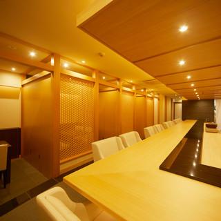 個室完備◎洗練された空間で優雅なひとときをお過ごしください