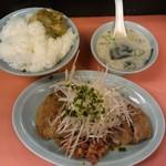 珍々ラーメン - 「 パイコー飯(豚の竜田揚げ) 」 ¥600