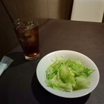 紅花グリル - 前菜のサラダ