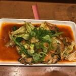 ニュールーシー - 牡蠣のキムチ炒め