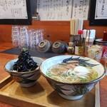 121405201 - 本ソーキそばセット ひじきのせご飯( *´艸)